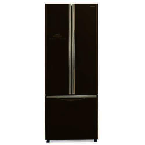 HITACHI 405L三門對門式雪櫃 R-WB480P2HGBW 啡玻璃
