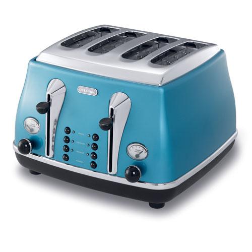 DELONGHI 4位槽麵包機 CTO4003.B 藍