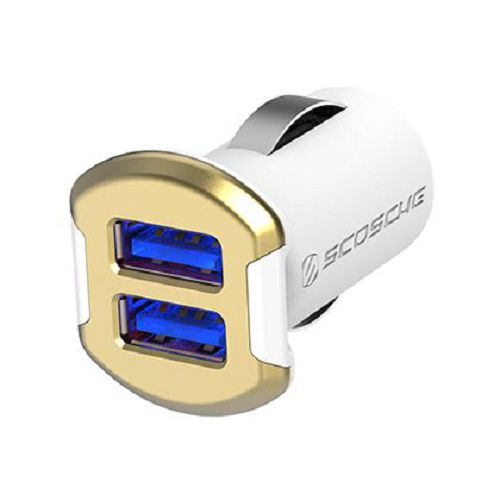 SCOSCHE reVOLT Dual 12W USB Car Charger Gold
