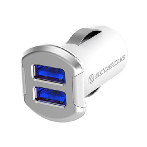 SCOSCHE reVOLT Dual 12W USB Car Charger Silver