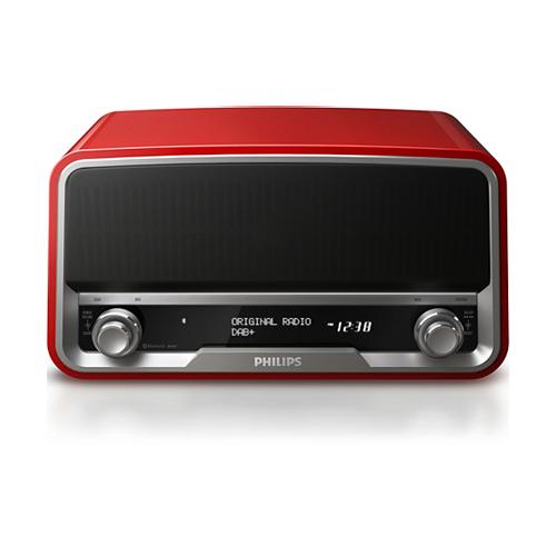 PHILIPS 復古造型收音機 紅 ORT7500/10