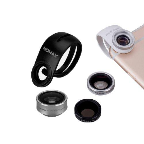 MOMAX ^4合1 鋁金屬手機鏡頭套裝 銀