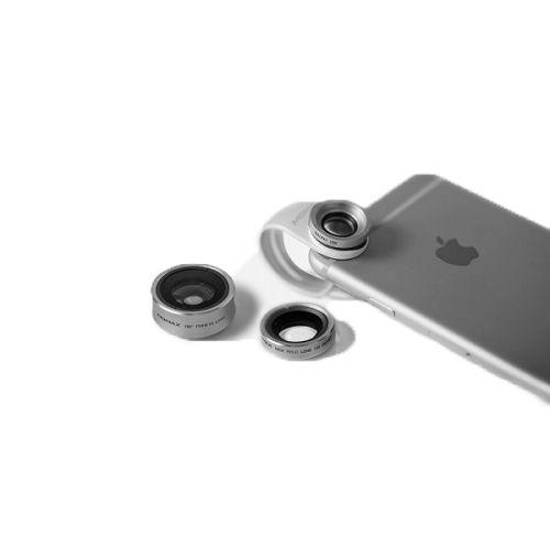 MOMAX ^3合1 鋁金屬手機鏡頭套裝 銀