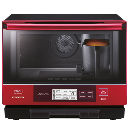 HITACHI 33L高溫蒸氣烤焗水波爐 MRONBK5000E R-珍珠紅