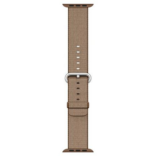 APPLE 38mm Toasted Coffee/Caramel Woven Nylon