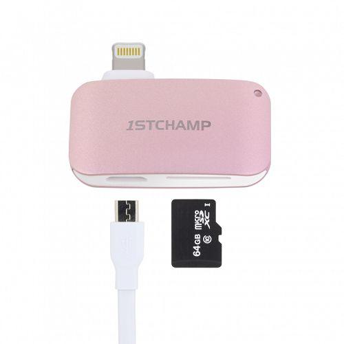 First Cham MFI Lightning Card Reader Rose