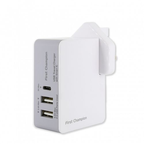 First Cham USB旅行/家用充電套裝 5.4A