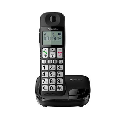 PANASONIC 數碼無線電話 KX-TGE110HKB黑
