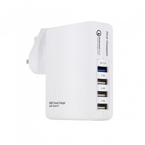 First Cham [i]萬用USB旅行充電套裝[USB*4;支援QC2.0]
