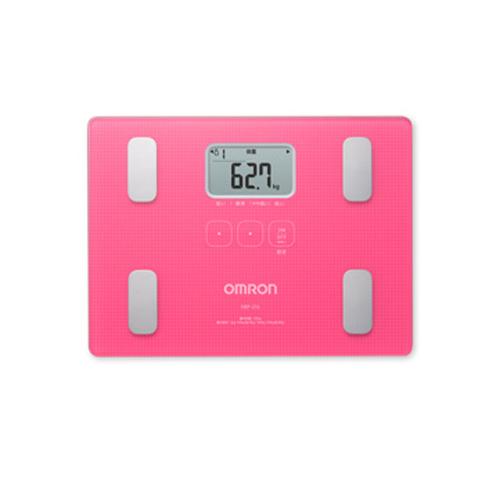 OMRON 脂肪分析磅 HBF-217粉紅