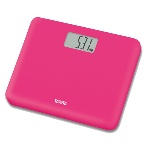 TANITA 輕巧電子體重磅 HD660桃紅