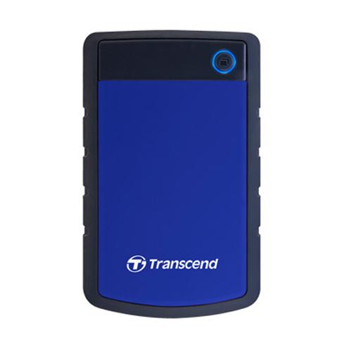 Transcend StoreJet防震移動硬盤 2TB 藍 25H3 USB3.0