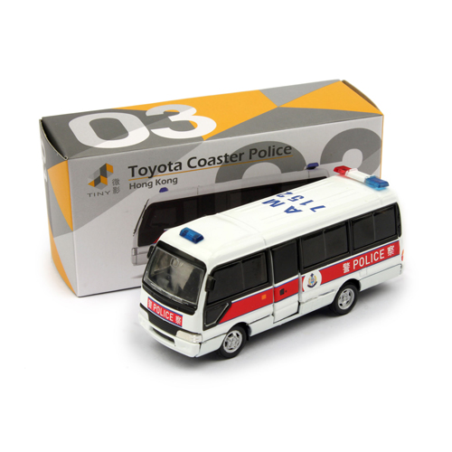 Tiny微影 03 Toyota Coaster警察指揮車[新版] 8cm
