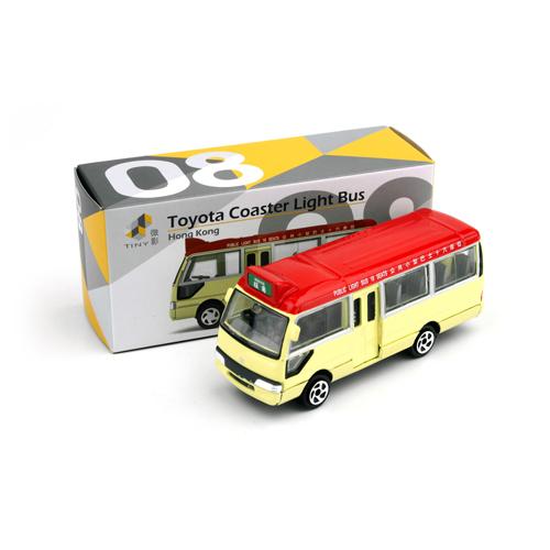 Tiny微影 08 Toyota Coaster紅色小巴[新版] 8cm