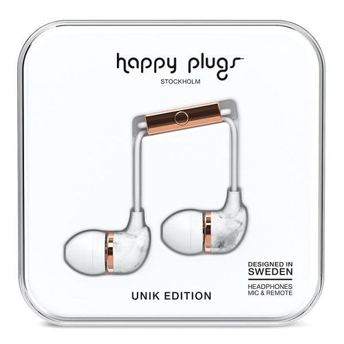 HappyPlugs In-Earphone White Marble