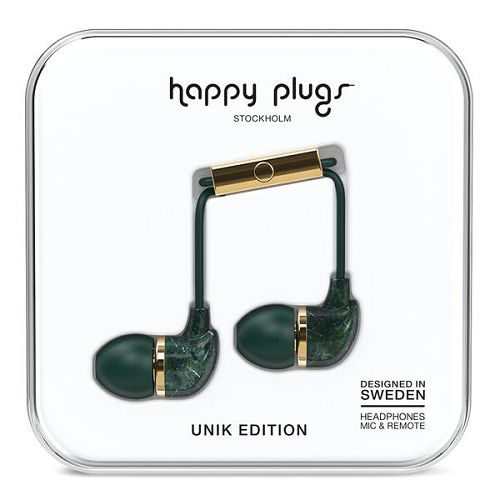 HappyPlugs In-Earphone Green Marble