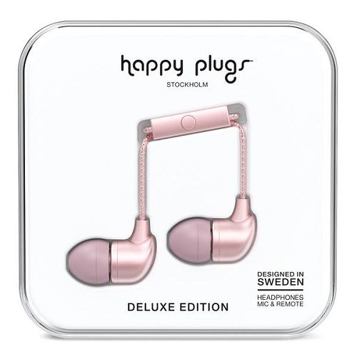HappyPlugs In-Earphone Pink Gold