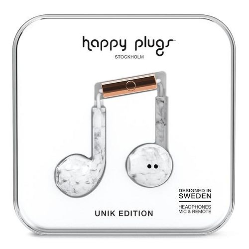 HappyPlugs Earbud Plus White Marble