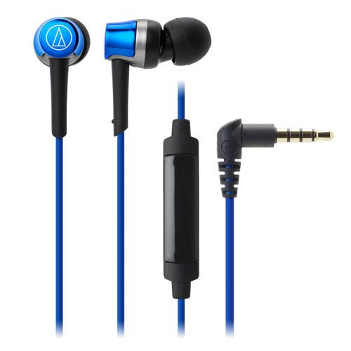 audio-tech Mobile In-Earphone 藍 ATH-CKR30iS BL
