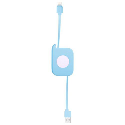 MOMAX ^EASY Link Lightning伸縮線 80cm 藍