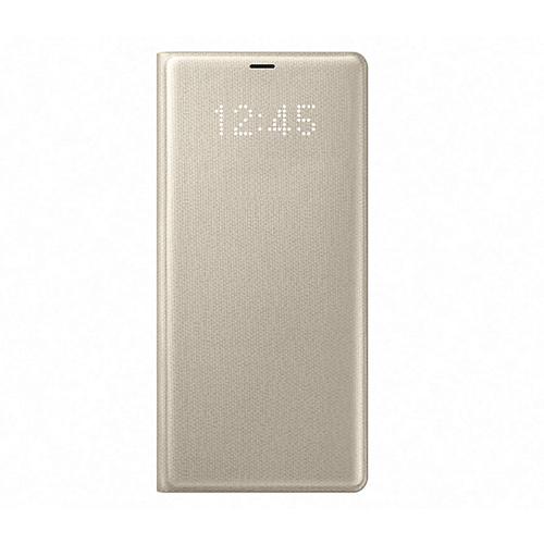 Samsung NOTE8 LED翻頁式皮套 金色