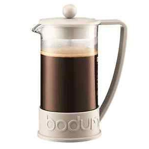 BODUM 1.0L擠壓式咖啡壺 10938-913 白