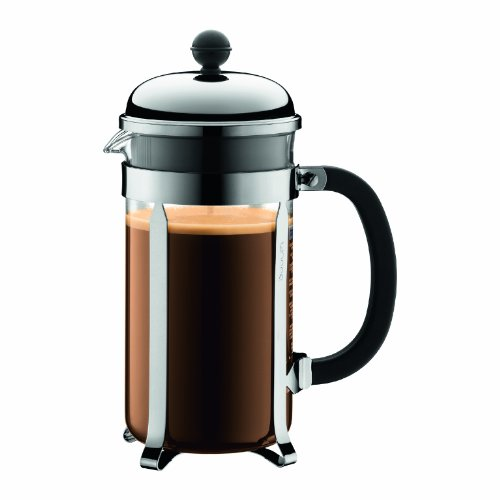 BODUM 1.0L擠壓式咖啡壺 1928-16 銀