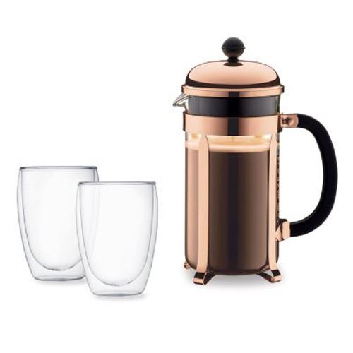 BODUM 1.0L咖啡壺套裝 K1928-18-1 銅