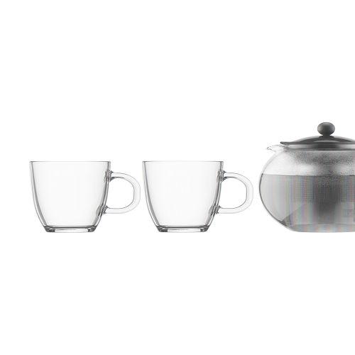 BODUM 1.0L茶壺套裝 K1805-01 黑