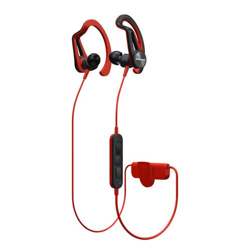 Pioneer Clip Sport 掛耳式藍牙耳機 紅 SE-E7BTR