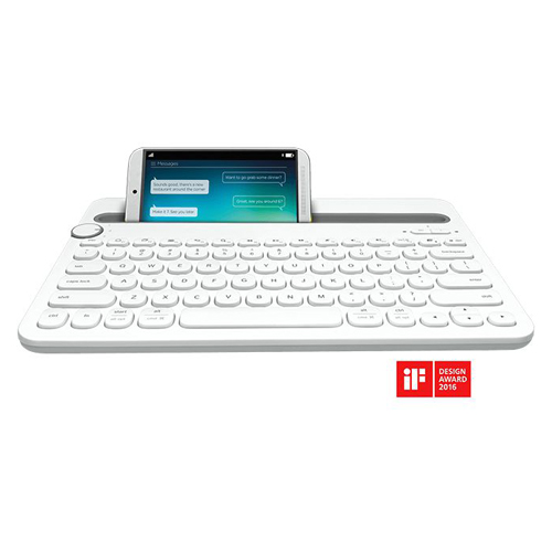 Logitech Multi-Device Bluetooth Keyboard-AP K480 White