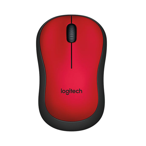 Logitech Silent Wireless Mouse M221 Red