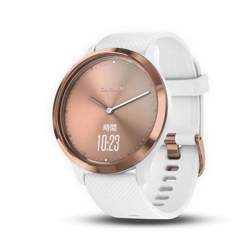 GARMIN Vivomove HR心率指針式腕錶-運動款[繁體版] Rose Gold/White Reg.