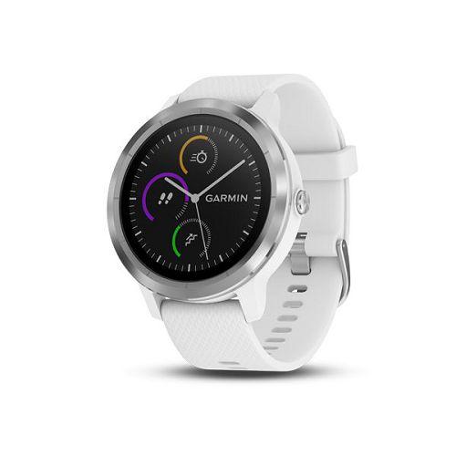 GARMIN Vivoactive 3 GPS智能運動支付手錶[簡體版] Silver/White Silicon