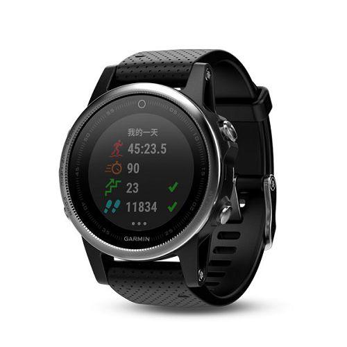 GARMIN Fenix 5s GPS輕量美型款腕錶[繁體版] Black Silver