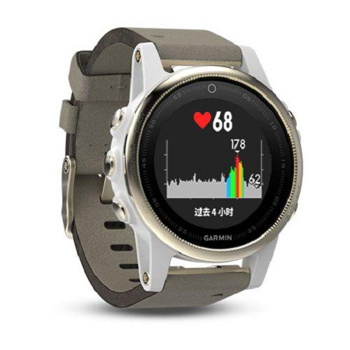 GARMIN Fenix 5s GPS輕量美型款腕錶[簡體版] Sapphire Champagne