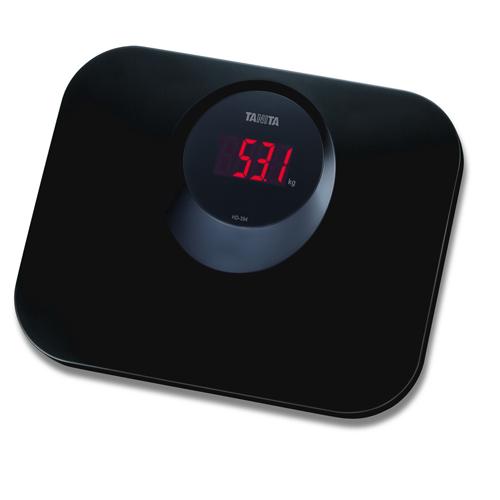 TANITA 輕巧電子體重磅 HD394黑
