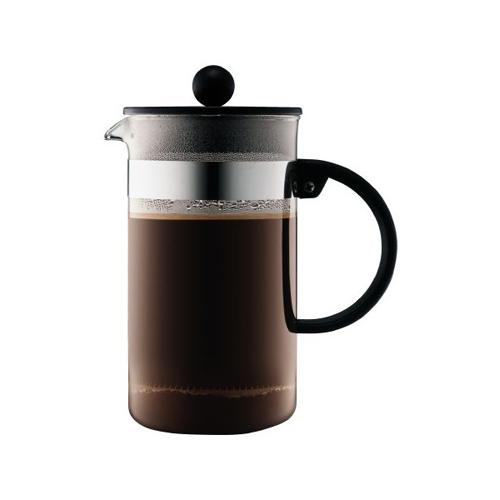 BODUM 1.0L擠壓式咖啡壺 1578-01 黑