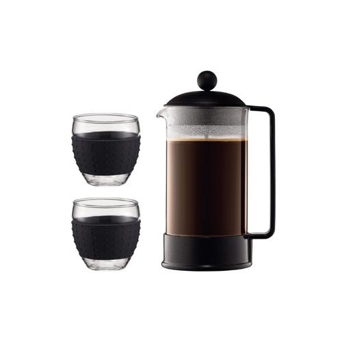 BODUM 1.0L咖啡壺套裝 K1548-01-2 黑