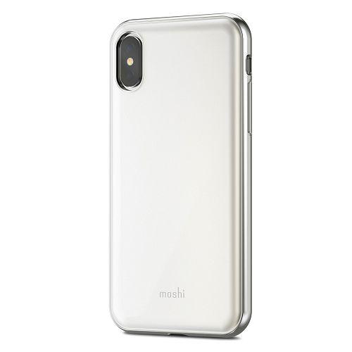 moshi iGlaze for iPhone XS/X Pearl White