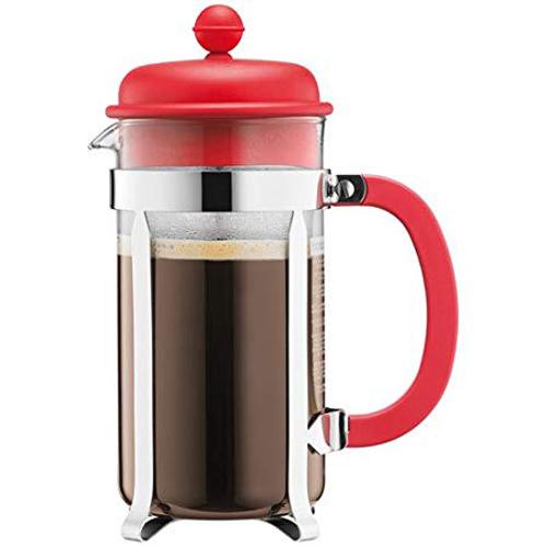 BODUM 1.0L擠壓式咖啡壺 1918-294 紅
