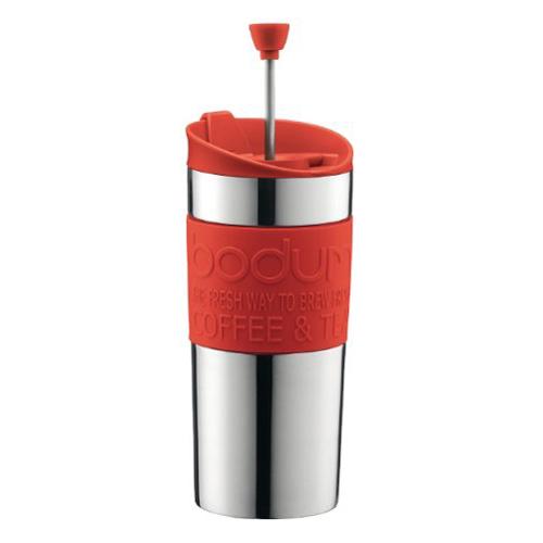 BODUM 0.35L擠壓式咖啡壺 11067-294 紅