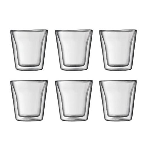 BODUM 0.1L雙層玻璃杯 10108-10-12 六隻裝