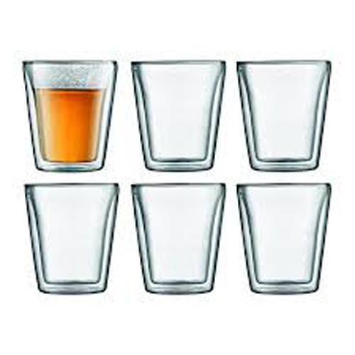BODUM 0.2L雙層玻璃杯 10109-10-12 六隻裝