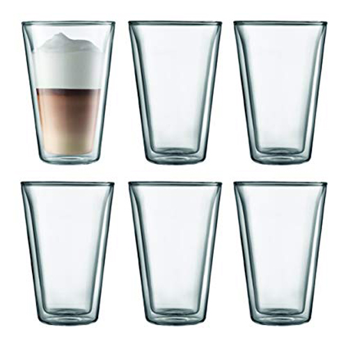 BODUM 0.4L雙層玻璃杯 10110-10-12 六隻裝