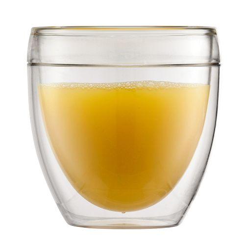 BODUM 0.25L雙層玻璃杯 11616-10 兩隻裝