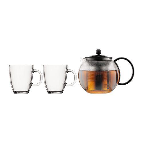 BODUM 1.0L茶壺套裝 K1844-01-2 黑