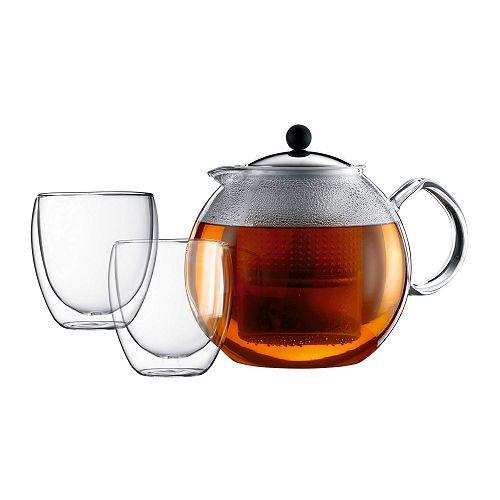 BODUM 1.5L茶壺套裝 K1833-16 銀