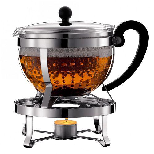 BODUM 1.5L加熱式茶壺 K11143-16 銀