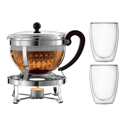 BODUM 1.5L加熱式茶壺套裝 K11143-16-1 銀